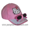 CASQUETTE + LUNETTES HELLO KITTY - ROSE